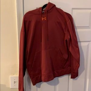 Mens Small Red Under Armour Hoodie